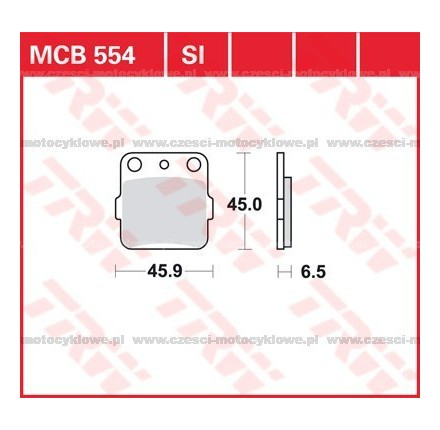 Klocki hamulcowe TRW MCB554SI