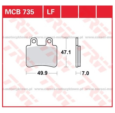 Klocki hamulcowe TRW MCB735