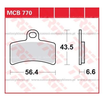 Klocki hamulcowe TRW MCB770