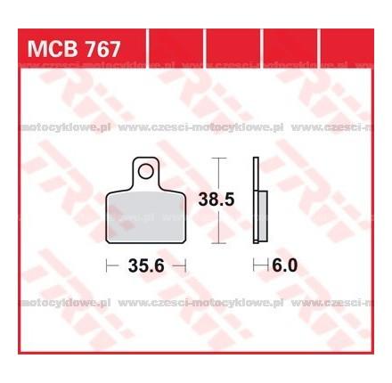 Klocki hamulcowe TRW MCB767