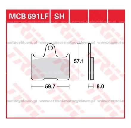 Klocki hamulcowe TRW MCB691