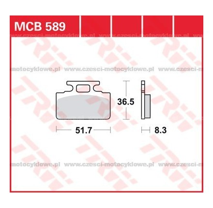 Klocki hamulcowe TRW MCB589