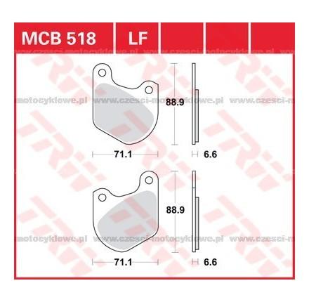 Klocki hamulcowe TRW MCB518