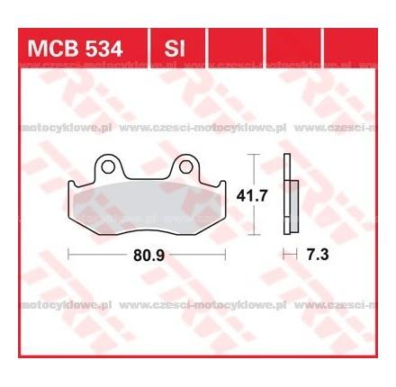 Klocki hamulcowe TRW MCB534