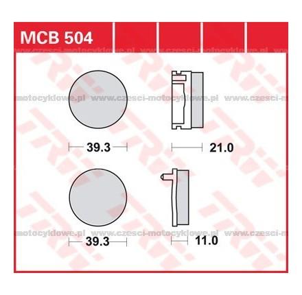Klocki hamulcowe TRW MCB504