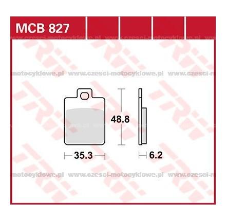 Klocki hamulcowe TRW MCB827