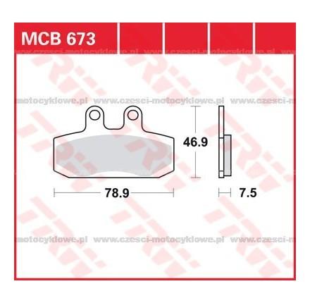 Klocki hamulcowe TRW MCB673