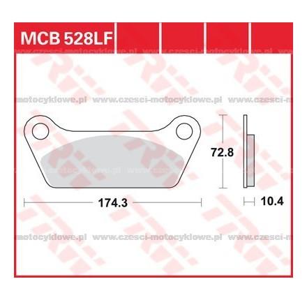 Klocki hamulcowe TRW MCB528