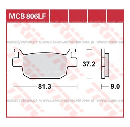 Klocki hamulcowe TRW MCB806SRM