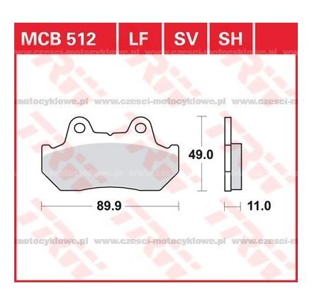 Klocki hamulcowe TRW MCB512