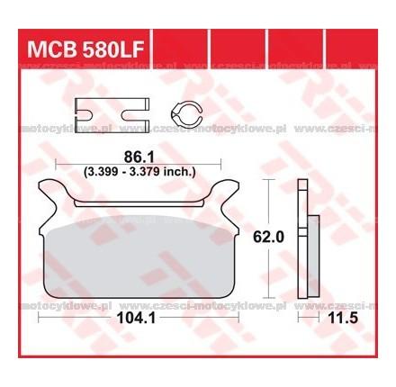 Klocki hamulcowe TRW MCB580