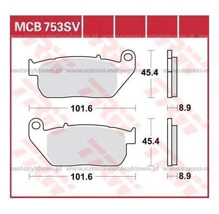 Klocki hamulcowe TRW MCB753SV
