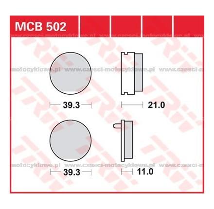 Klocki hamulcowe TRW MCB502