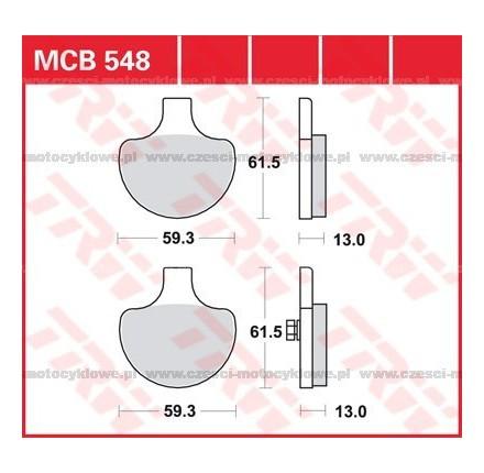 Klocki hamulcowe TRW MCB548