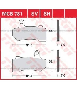 Klocki hamulcowe TRW MCB781SH