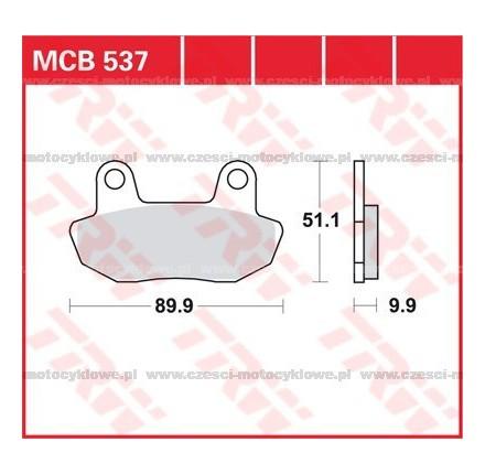 Klocki hamulcowe TRW MCB537