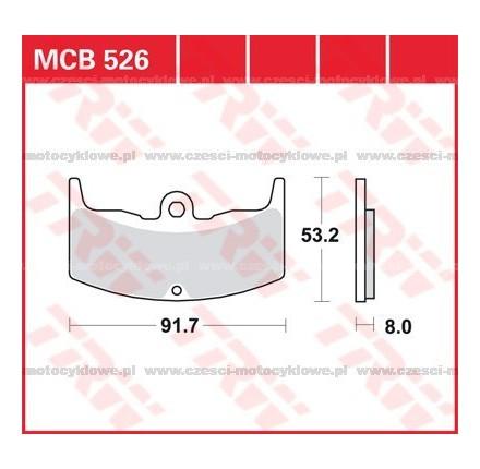 Klocki hamulcowe TRW MCB526