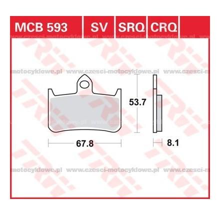 Klocki hamulcowe TRW MCB593SV