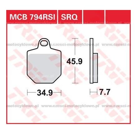 Klocki hamulcowe TRW MCB794RSI