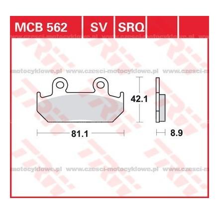 Klocki hamulcowe TRW MCB562SV