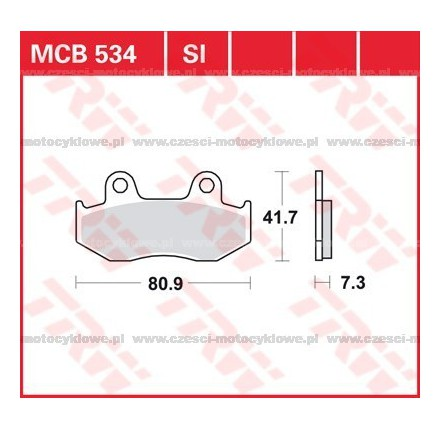 Klocki hamulcowe TRW MCB534SI