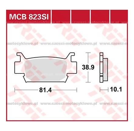 Klocki hamulcowe TRW MCB823SI
