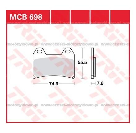 Klocki hamulcowe TRW MCB698