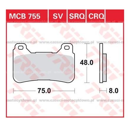 Klocki hamulcowe TRW MCB755SV