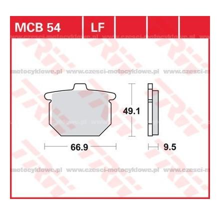 Klocki hamulcowe TRW MCB54