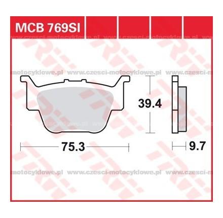 Klocki hamulcowe TRW MCB769SI