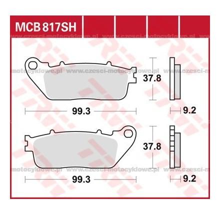 Klocki hamulcowe TRW MCB817SH