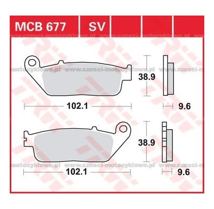 Klocki hamulcowe TRW MCB677