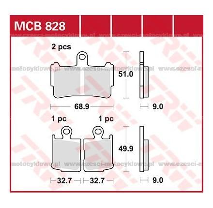 Klocki hamulcowe TRW MCB828SV