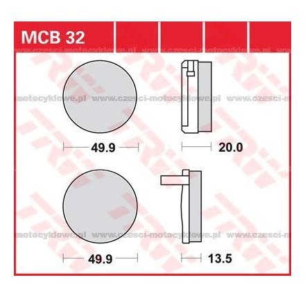 Klocki hamulcowe TRW MCB32