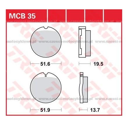 Klocki hamulcowe TRW MCB35
