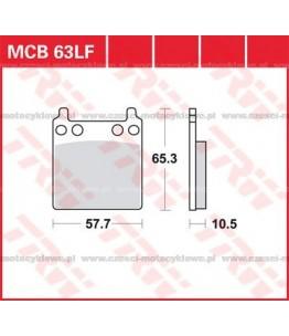 Klocki hamulcowe TRW MCB63