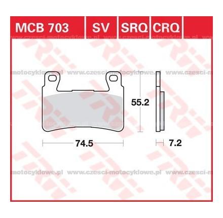 Klocki hamulcowe TRW MCB703SV