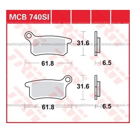 Klocki hamulcowe TRW MCB740SI
