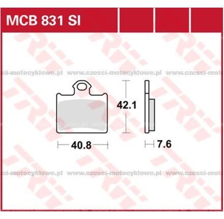 Klocki hamulcowe TRW MCB831SI