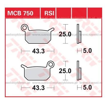 Klocki hamulcowe TRW MCB750SI