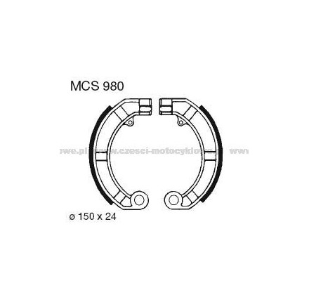 Szczęki hamulcowe TRW MCS 980