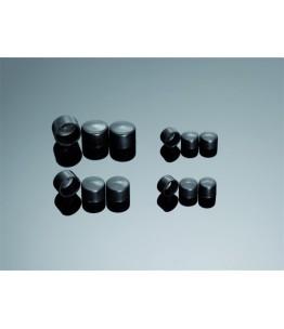 Pokrywy na śruby M6 w kolorze czarnym. W komplecie znajduje się 10 sztuk.