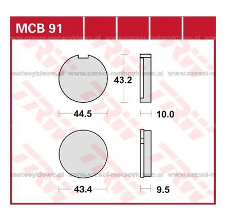 Klocki hamulcowe TRW MCB91