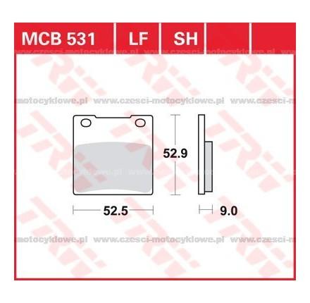 Klocki hamulcowe TRW MCB531