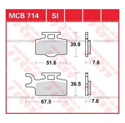Klocki hamulcowe TRW MCB714SI