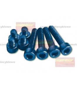 Zestaw śrub aluminiowych niebieskich