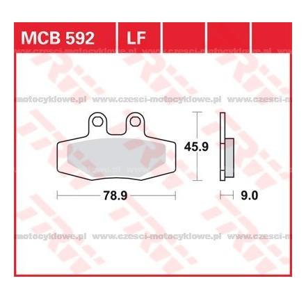 Klocki hamulcowe TRW MCB592