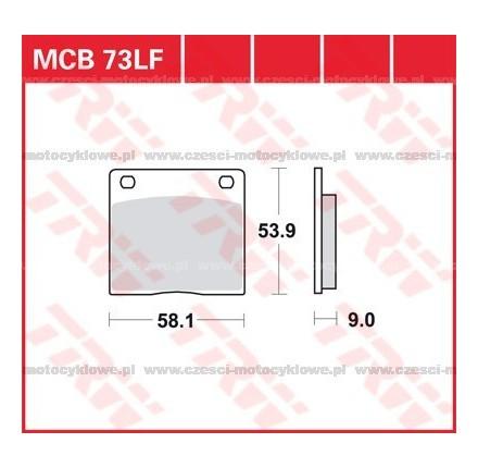 Klocki hamulcowe TRW MCB73