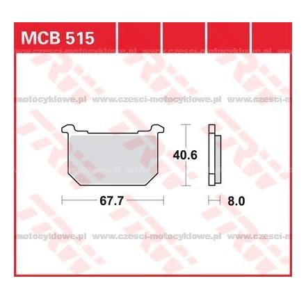 Klocki hamulcowe TRW MCB515