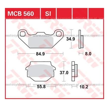 Klocki hamulcowe TRW MCB560SI